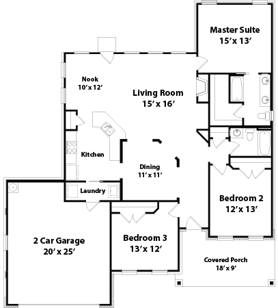 1717 Hampton floor plan