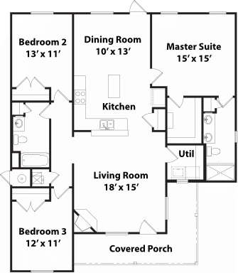 1502 Stradford Floor Plan