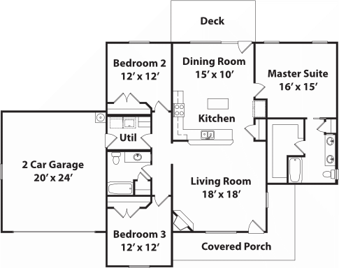 1656 Stradford Floor Plan