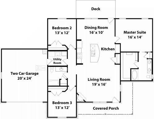 1708 Stradford Floor Plan