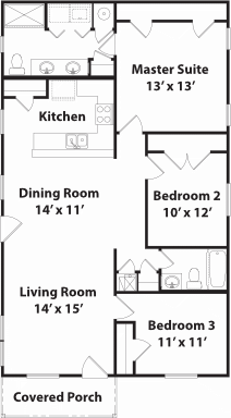 1288 Summit Floor Plan